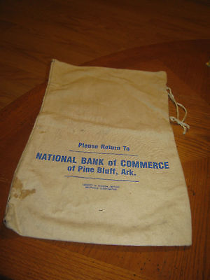 National Bank Of Commerce Pine Bluff Ark Coin Bank Sack