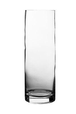 """12"""" Clear Glass Cylinder Vase H-12"""", D-4"""" Wedding Centerpiece decoration - 6pcs"""