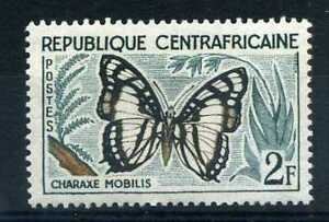 CENTRAFRICAINE-1960-timbre-n-6-papillon-neuf