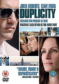DUPLICITY - JULIA ROBERTS, CLIVE OWEN - DVD -REGION 2 - NEW & SEALED - FREE P&P