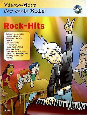 Klavier Noten : Rock-Hits für coole Kids mit CD - leichte Mittelstufe - B-WARE