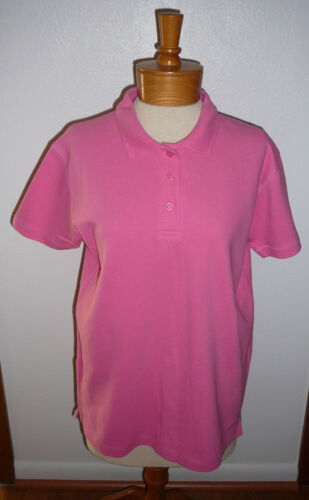 ERIKA & CO. SHIRT~Pink~Polo Style~Short Sl~Miss Size S.~FREE SHIP