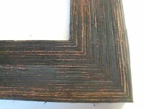 2-Wide-Rustic-Black-Grungy-Weathered-Barnwood-Picture-Frame-Standared-Sizes