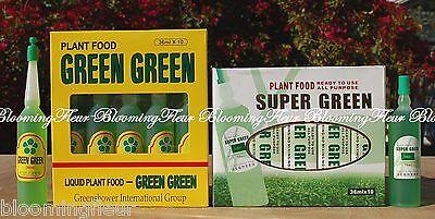 5 Btls Super Green & 5 Btls Green Green Lucky Bamboo Plant Food Fertilizer -