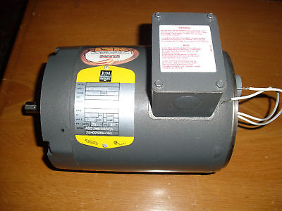Baldor Electric Motor 1 H.p. 3 Phase 1675 Rpm Free Shipping