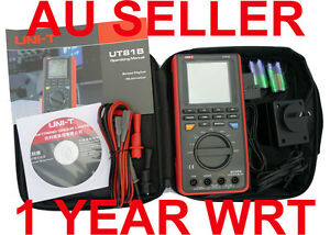 UNI-T-HANDHELD-MULTIMETER-OSCILLOSCOPE-8MHz-UT81B-1-YEAR-OZ-WRT-USB-DMM-Digital