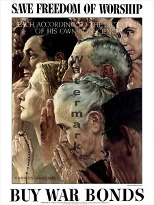Norman Rockwell Four Freedoms Poster Collection 18