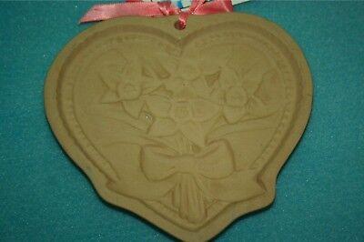 Brown Bag Cookie Art Heart Flowers Mold 1990