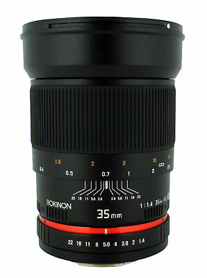 Rokinon 35mm F1.4 Ultra Fast Wide Angle Lens For Nikon Digital Slr - Rk35maf-n