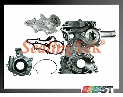 85+ Toyota 22r 22re Timing Chain Cover + Oil Water Pump 22rec Engine Car Truck