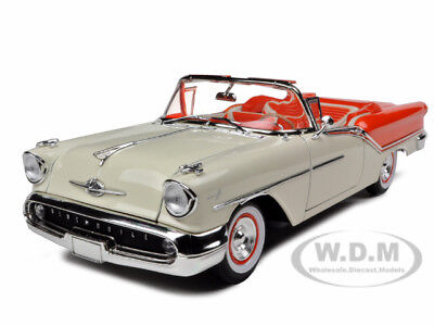 1957 Oldsmobile Super 88 Orange 1/18 Diecast Model Car By Road Signature 92758