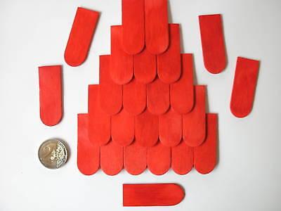 500 Dachschindeln  Holzschindeln Schindeln 18x50 mm Rot