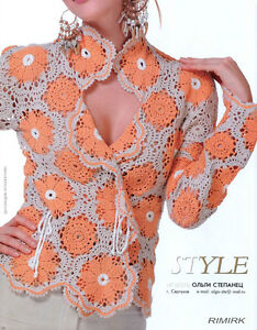 Knitting-Crochet-Patterns-Book-Floral-Dress-Top-Cardigan-Fashion-Magazine-544