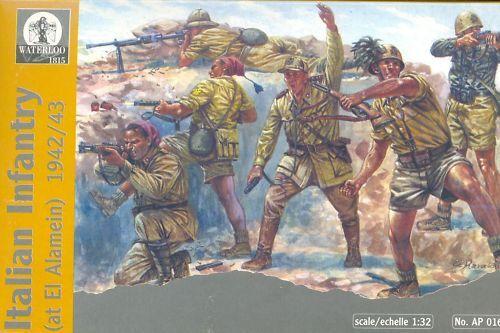 WATERLOO 1815 AP016: WW2 Italian Infantry 1942/3. 1/32 SCALE. 54MM WWII ITALIANS