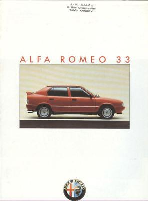 1986 1987 Alfa Romeo 33 Sales Brochure