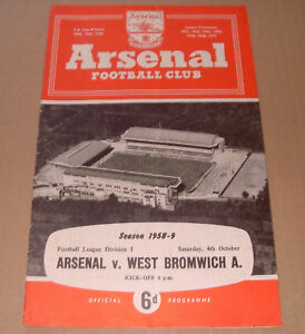 Programme-Arsenal-V-West-Bromich-Albion-1958