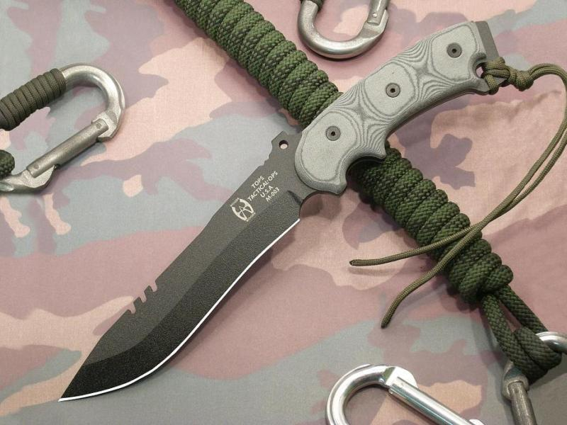 Tops Anaconda Bowie Fixed Blade Tactical Survival Knife An7b