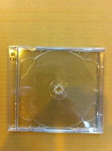 25-BRILLIANT-BOX-DOUBLE-CD-CASES-CLEAR-TRAYS-FREEDEL