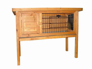 RABBIT-GUINEA-PIG-CAGE-HUTCH-RUN-WIRE-DOOR
