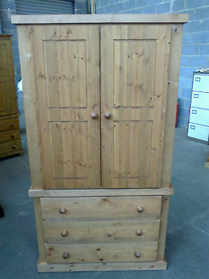 Pine Factory Aylesbury Wardrobe Clearance Handmade Assembled 3 Drawer Wardrobe