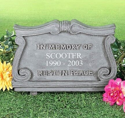 Personalized Pet Memorial Monument Cemetery Grave Stone