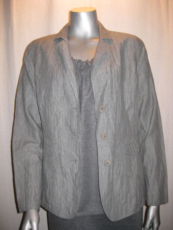 $396 EILEEN FISHER Ash Jacket & Tank Set S NWT