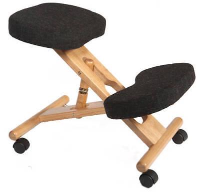 Kneeling Orthopaedic Posture Back Office Chair Stool CHARCOAL