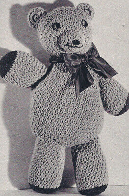 Vintage Crochet Pattern Teddy Bear Animal Soft Toy