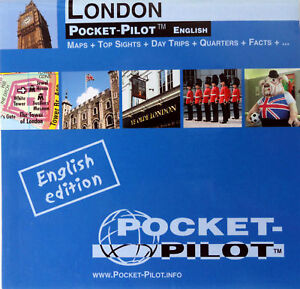 NEW-2008-MAP-OF-LONDON-PocketPilot-w-TubeMap-Waterproof-Top-20-Sights-History
