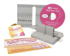 BOWDABRA-HAIR-Bow-Maker-Kit-Craft-Tool-DVD-Book