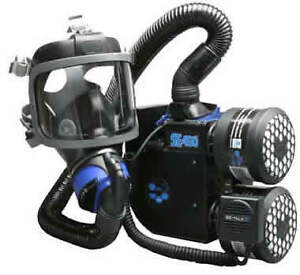 SE400AT-2-SEA-Scott-Full-Face-Gas-Mask-PAPR-Respirator-Backpack-NO-FILTERS