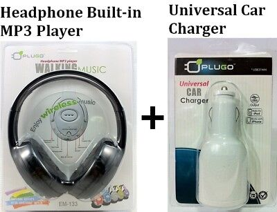 Headphone Built-in Mp3 Player With Car Charger 1 Suit