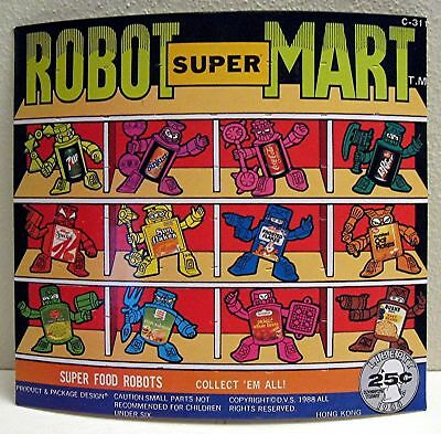 Robot Super Mart Gumball Vending Machine Toy Sign