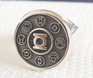 sterling silver 925 green lantern corps ring