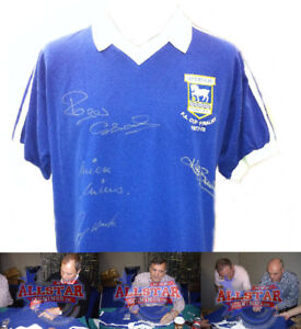 IPSWICH TOWN 1978 FA CUP FINAL SHIRT SIGNED x 4 LEGENDS