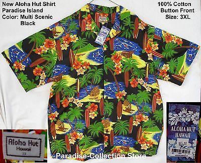 Aloha Hut Shirt Paradise Island Surf Size Xxxl