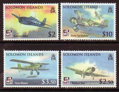 SOLOMON ISLANDS 2009 NAVAL AVIATION SET aircraft  UNMOUNTED MINT