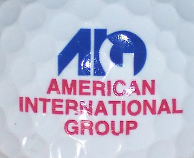 Aig   American Intl Group Insurance   Logo Golf Ball