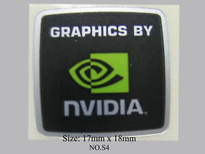 NVIDIA FREE WINDOWS 7 computer sticker badge logo S4+5
