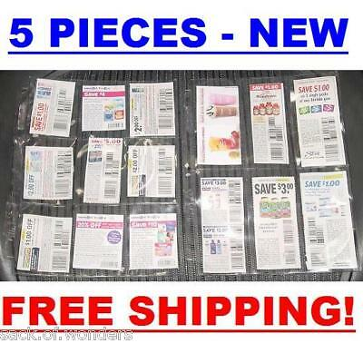 9 & 6 POCKETS for BINDERS COUPON SLEEVES ORGANIZERS (5)