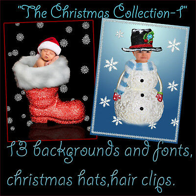 Digital Christmas Photography Backdrops Children Holiday Backgrounds Props Disk