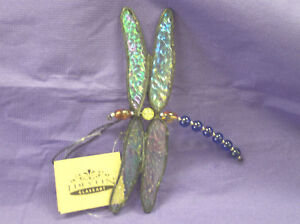 J Devlin Glass Art Stained DRAGON FLY Ornament/Suncatcher *NEW IN BOX*