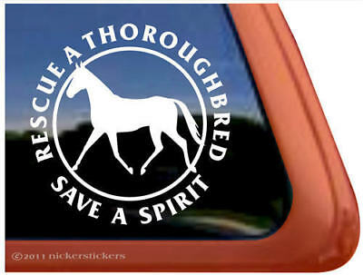 Thoroughbred Rescue Vinyl Horse Trailer Decal Sticker