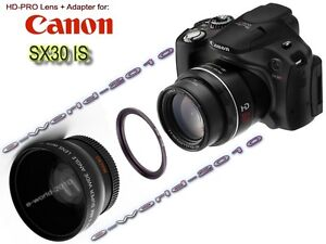 CANON-POWERSHOT-SX40-HS-SX30-IS-PRO-HD-WIDE-ANGLE-LENS-BUNDLE-ONE-ADAPTER