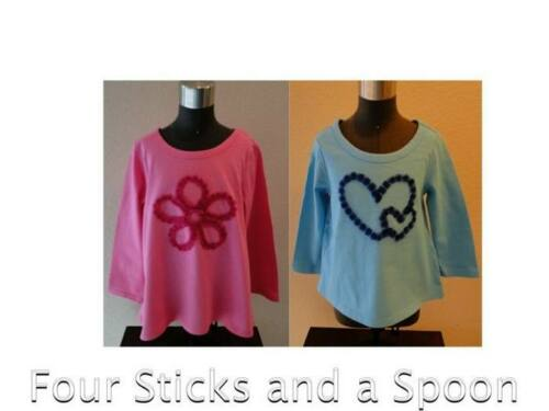 nwt The Children's Place Girl's Long Sleeve Flower Or Heart Tees Tops Shirt