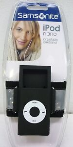 NEW Samsonite 1st or 2nd Generation iPod Nano Sports Adjustable Armband INARBK