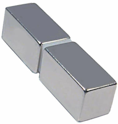 2 Neodymium Magnets 1 X 1/2 X 1/2 Inch Bar N48