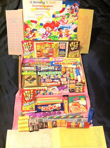 XL Letter Retro Sweet Gift Box & Certificate 110 Sweets