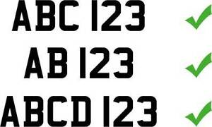 How to assign a personalised number plate