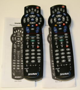Lot 2 Shaw Remote for Motorola HD DVR PVR Cable Box same as Time Warner 1056b01